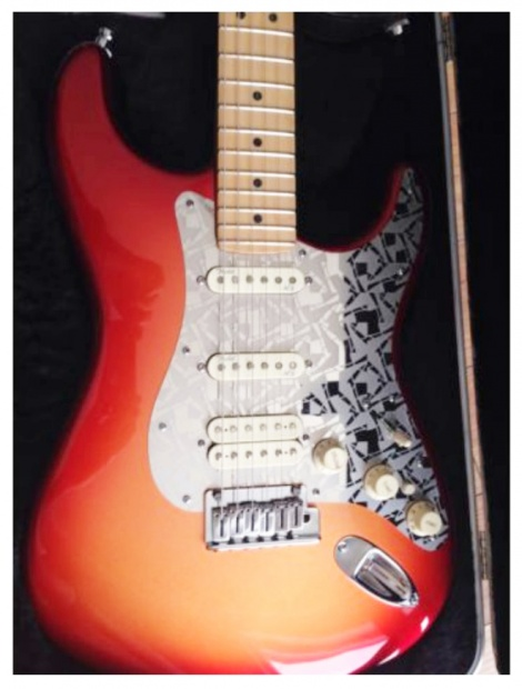 Rob's custom 'Kaleido' on his American Deluxe Stratocaster