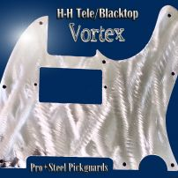 Vortex Stainless Steel Guard for Fender HH Telecaster Carved Metal Chrome Bling Tele Guard