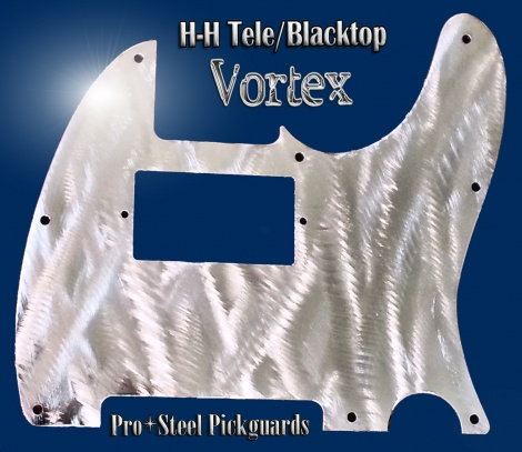 Vortex HH Telecaster Guard Machined Stainless Steel Metal Chrome Polished Fender Tele Pickguard