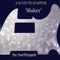 * IN STOCK * 'SLAKER' S/H STANDARD FENDER TELECASTER METAL PICKGUARD WORLWIDE AIRMAIL