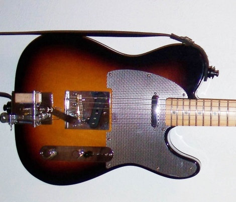 Drawbridge Ahead with a Silver Ripple guard adds some shine to a custom Telecaster