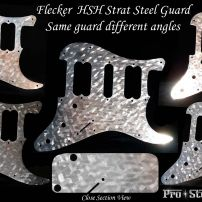 Flecker HSH Strat Stainless Steel Pickguard Engraved Fender Stratocaster Guard Art
