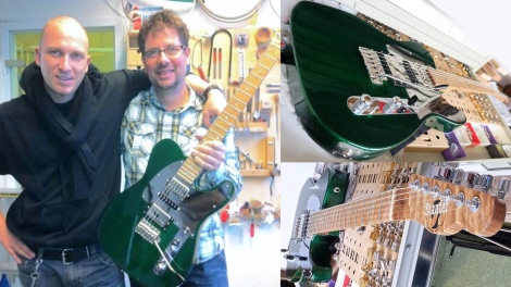 André in Munich, top man at Staufer Custom Guitars completed a magnificent Emerald Green Custom Tele