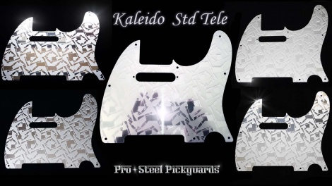 Kaleido Etched Mirror Stainless Steel Tele guard for an awesome Fender Std Telecaster Pickguard