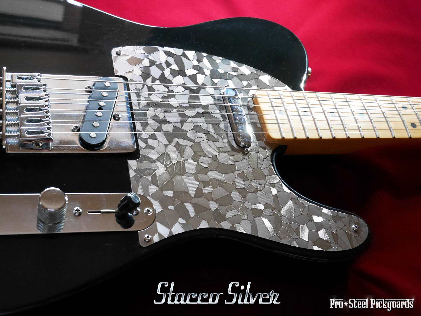 Fender Telecaster Stacco Silver Pickguard Metal Custom Perfect Neat
