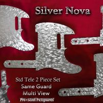 Silver Nova Tele guard and control plate set for Fender Telecaster steel chrome pickguard