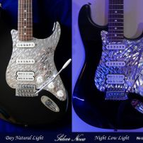 Silver Nova Fender Stratocaster Stainless Steel Pickguard Machined Chrome Metal Strat Guard