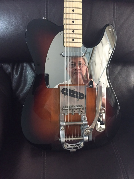 Parankoon from Bangkok with his gorgeous custom Telecaster with a full Mirror chrome steel pickguard