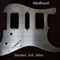 Brushed Ash Silver HSH Fender Stratocaster Guard Stainless Steel Metal Strat Pickguard