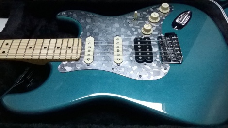 The Lone Star Stratocaster from Lou in Long Island NY, with a Stacco HSS pickgaurd