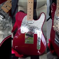 Dudley from Brisbane Gets a Gorgeous Red Tele Fired Up With a Stacco Guard and Control Plate