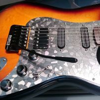 Paul From Melbourne Upgrades a HSS Stratocaster with a Stacco Etched Stainless Steel Pickguard