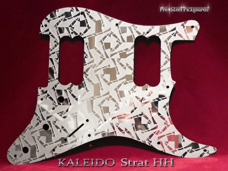 Kaleido HH Fender Strat Stainless Steel Pickguard Etched Mirror Metal Stratocaster Guard