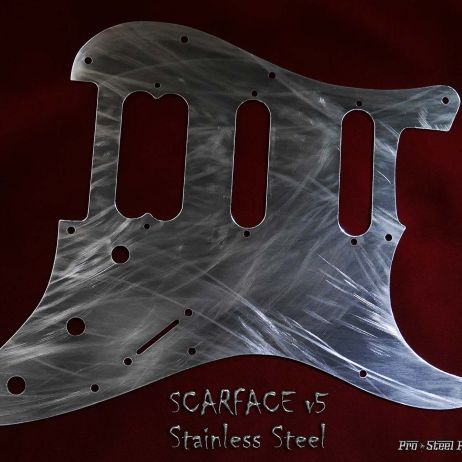 Scarface v5 *Sold* HSS Fender Stratocaster Black Metal Aged Steel Pickguard