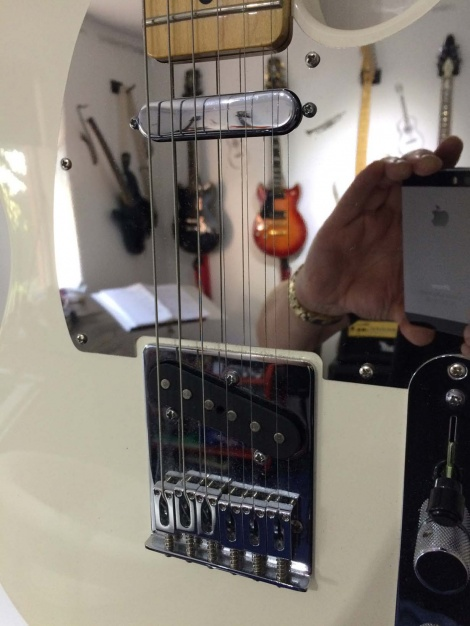 From Manchester UK, Nigel's Vintage White Telecaster with Chrome Mirror Steel Guard