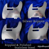 Silver Ripple Stainless Steel Fender Telecaster Metal Chrome Pickguard