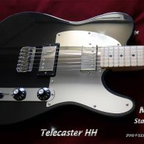 Super Mirror Pickguard for Two Humbucker Fender HH Telecaster or Blacktop Tele Chrome Steel Guard