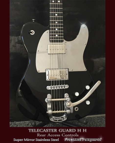 Jim Root HH Tele Super Mirror Pickguard Dual Humbucker Fender Telecaster Stainless Steel Guard
