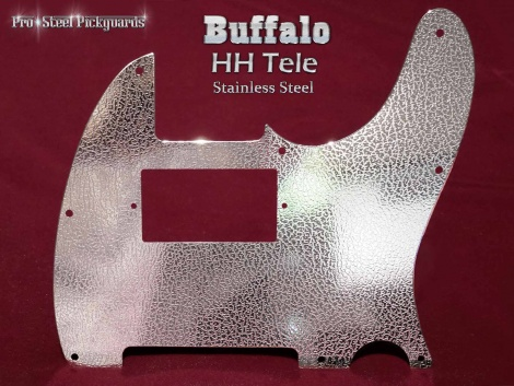 Buffalo H H Tele Pickguard Stainless Steel Etched Chrome Guard for Fender Telecaster HH