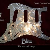 Blitz SSS Fender Strat Stainless Steel pickguard Savaged Mirror Stratocaster Guard