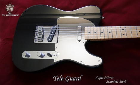 Fender Telecaster Mirror Guard Chrome Polished Stainless Steel Metal Tele Pickguard