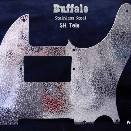 Buffalo S.H. Tele Pickguard Stainless Steel Chrome Guard for Fender Telecaster SH