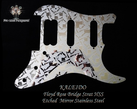 Kaleido Floyd Rose Bridge HSS Fender Stratocaster Pickguard Etched Mirror Stainless Steel guard