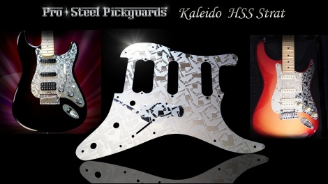 Kaleido Etched Mirror Fender HSS Stratocaster Pickguard Stainless Steel Strat Guard