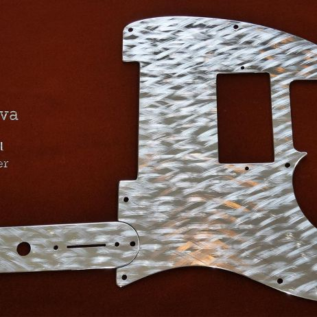 Silver Nova Tele Stainless Steel Pickguard set Fender HH Telecaster guard and control plate chrome