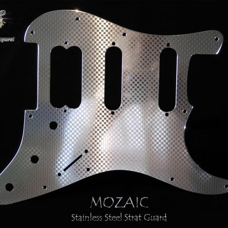 Mozaic HSS Stainless Steel Fender Stratocaster Pickguard Metal Strat Guard