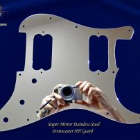 Super Mirror HH Fender Strat Stainless Steel Pickguard Chrome Metal Stratocaster Guard