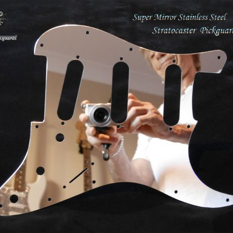 Super Mirror Pickguard Fender Stratocaster Stainless Steel Metal Chrome Guard