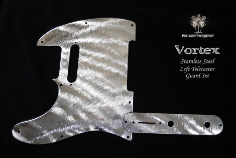 Vortex Stainless Steel Guard for Fender Left Hand Telecaster Metal Chrome Lefty Tele Pickguard