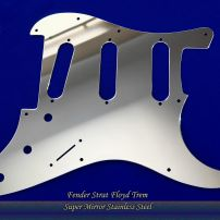 Floyd Rose Strat Guard ProSteel Pickguards Chrome Super Mirror Stainless Steel Fender Stratocaster