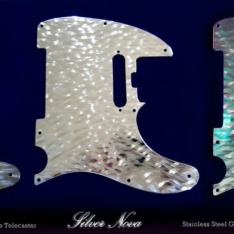 Silver Nova Tele Elite Pro Steel Pickguards hand machined stainless steel Fender Telecaster guard