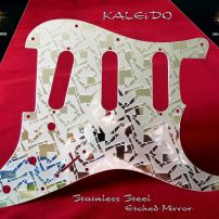 Kaleido Etched Mirror Fender SSS Stratocaster Pickguard Stainless Steel Strat Guard