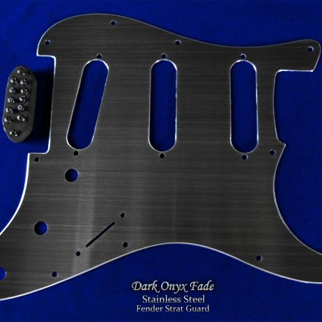 Dark Onyx Brushed Faded Black Satin Strat Guard Stainless Steel SSS Pickguard Fender Stratocaster