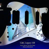 G&L Legacy HSS Guitar Chrome Pickguard Stainless Steel HB Super Mirror Metal Guard