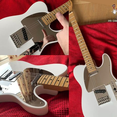 Super Mirror Tele Guard Polar White Fender Player 2018 Telecaster Stainless Steel Pickguard