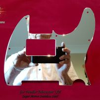 Fender SH Telecaster Humbucker Neck Chrome Super Mirror Guard Stainless Steel Pickguard