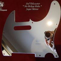 Pro Steel Pickguards Mirror Steel Fender Telecaster Original Vintage Tele Guard No Pickup Holes