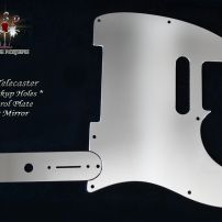 Pro Steel Pickguards Mirror Steel Fender Telecaster Guard No Pickup Holes + Matching Control Plate