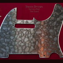 Stacco Bronzo Fender Telecaster 5 Hole Pickguard Etched Stainless Steel Tele Guard