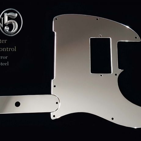 John 5 Telecaster Guard and Control Plate Set Super Mirror Steel Fender Tele HH J5 Pickguard
