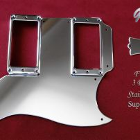 Gibson SG Extended Pickguard Set Super Mirror Stainless Steel Tenon Cover Truss Cover Chrome Guards