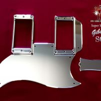 Gibson SG Standard Super Mirror Stainless Steel Pickguard Set Tenon Cover Truss Cover Chrome Guard