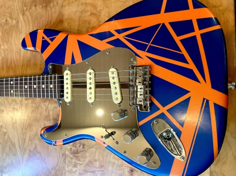 Van Halen Tribute Lefty Stratocaster with Stainless Steel Mirror Pickguard