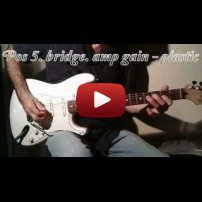 Pickguard Sound Test Fender Stratocaster - Plastic vs Metal Guard. Custom 54