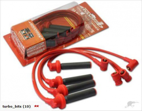 10.2mm 3-Core Ignition Leads 4G63 VR4 Evo 1-3