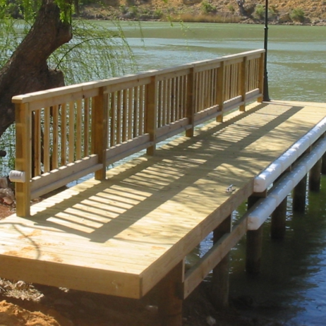 Fixed Timber Jetty Walker Flat